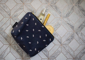 Random Navy Fan Make Up Bag