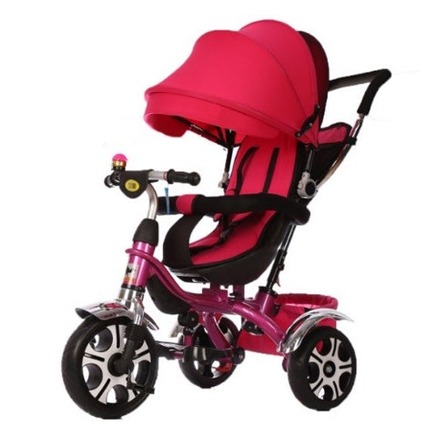 Little Bambino 4 in 1 Canopy Children's Tricycles (red)