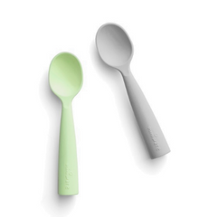 Recalled Miniware teething spoons in key lime and gray