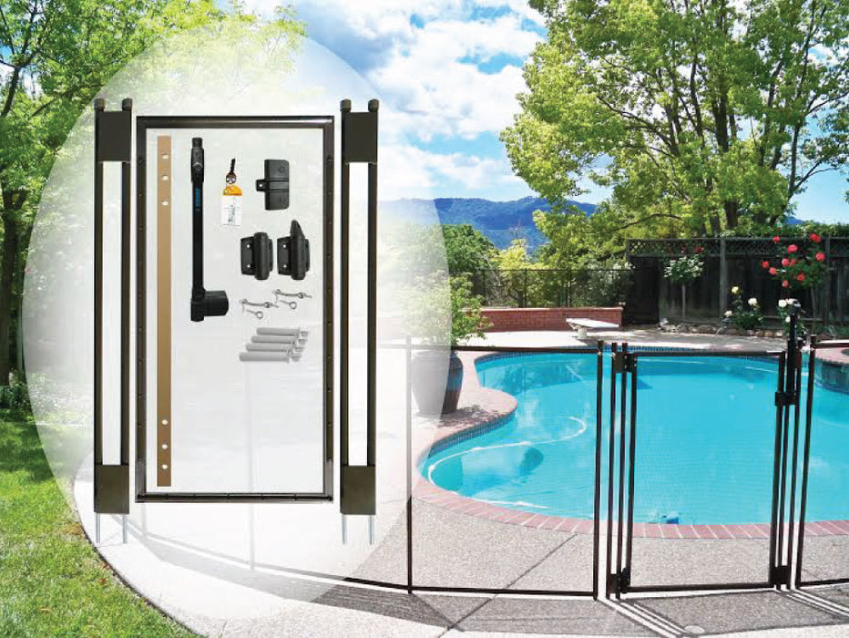 4′ Tall – Brown DIY Pool Fence Gate