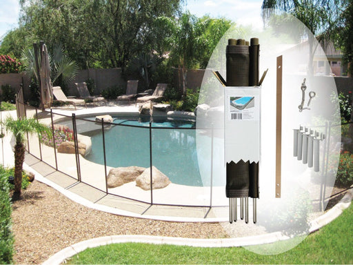4′ X 12′ Brown DIY Pool Fence