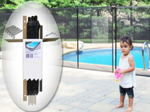 4′ H X 12′ L Black Pool Fence  DIY