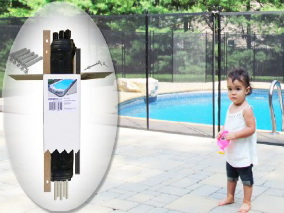 4′ X 12′ Black DIY Pool Fence