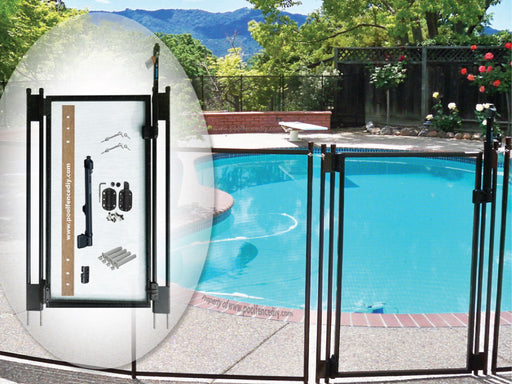 4′ Tall – Black DIY Pool Fence Gate
