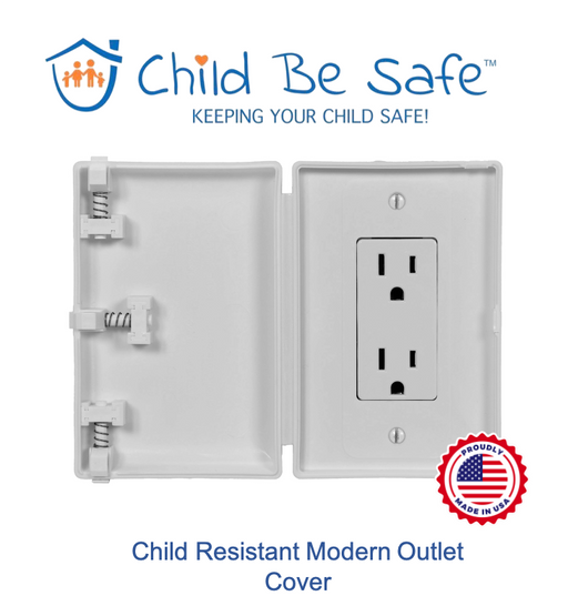 Child Be Safe Modern Rectangular Style Electrical Switch/Outlet Cover