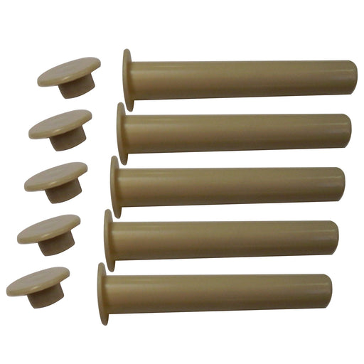 4″ TAN Sleeves and Caps – 5 Pack