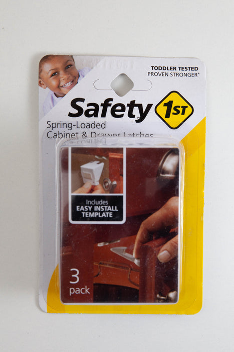 Safety 1st Spring Loaded Cabinet and Drawer Latch | 3 pk