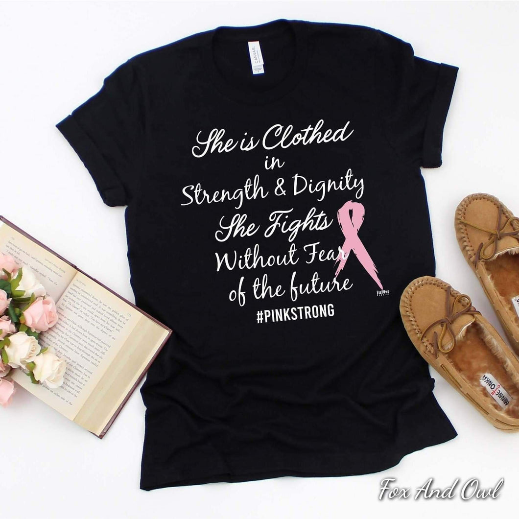 Breast Cancer She is Clothed Tee