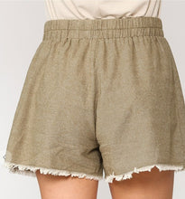 Olivia Cotton Frey Hem Shorts