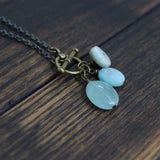 showing up in courage and truth  :: aquamarine. amazonite. kyanite.