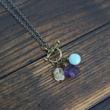 creating space for courage, peace, and joy  :: amazonite. amethyst. citrine.