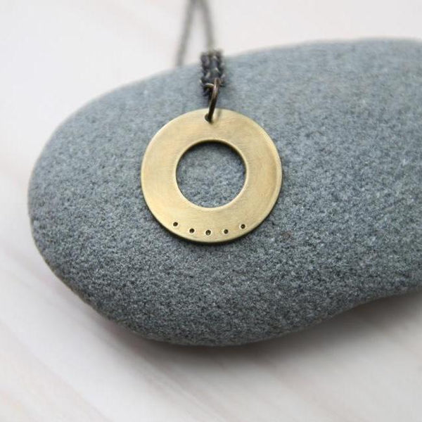 five deep breaths washer necklace