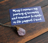 journey :: amethyst necklace {2}