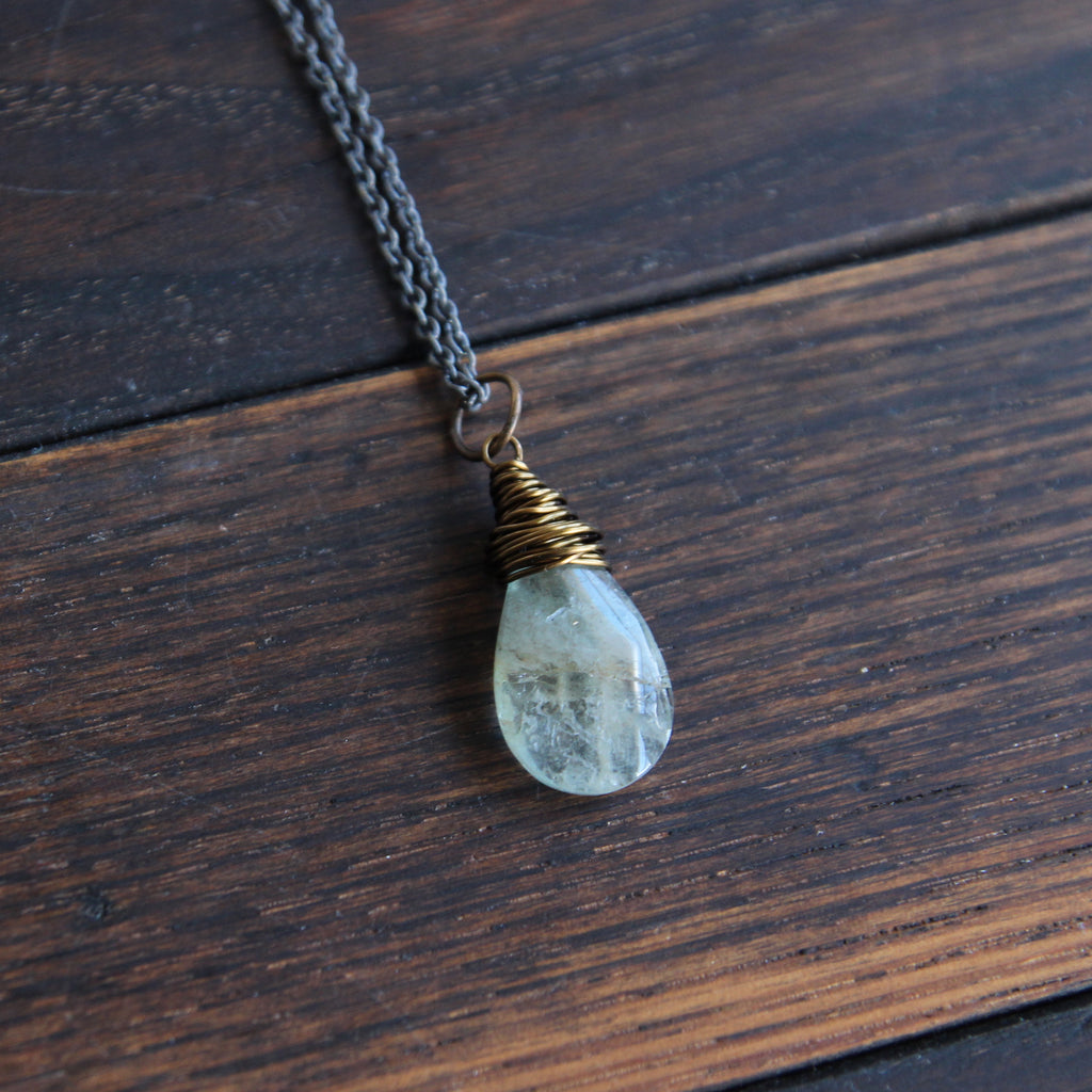 NEW I walk in courage :: aquamarine necklace {5}