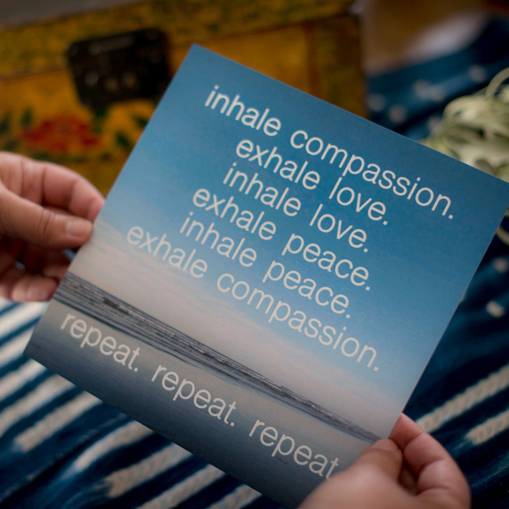 inhale compassion. exhale love :: 8x8 print
