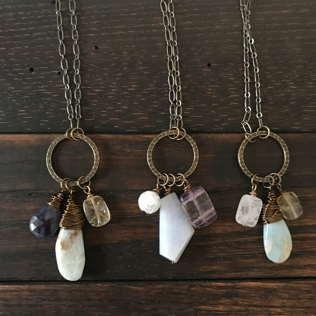 three-stone intention necklace :: created just for you