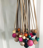 wooden bead necklaces for RAICES