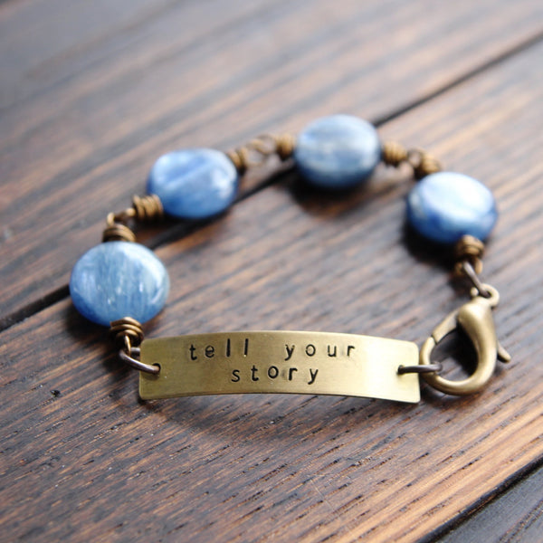 tell your story :: soul mantra bracelet with kyanite