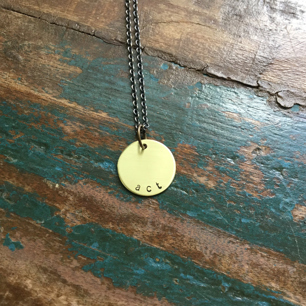 act & pray necklace :: the and space collection