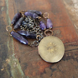 on my path :: locket with amethyst