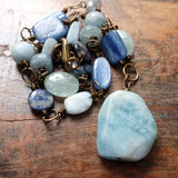 courage to stand in the light {kyanite and aquamarine}