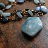 courage to seek lightness {kyanite and aquamarine}