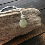courage + trust :: aquamarine sterling necklace {b}