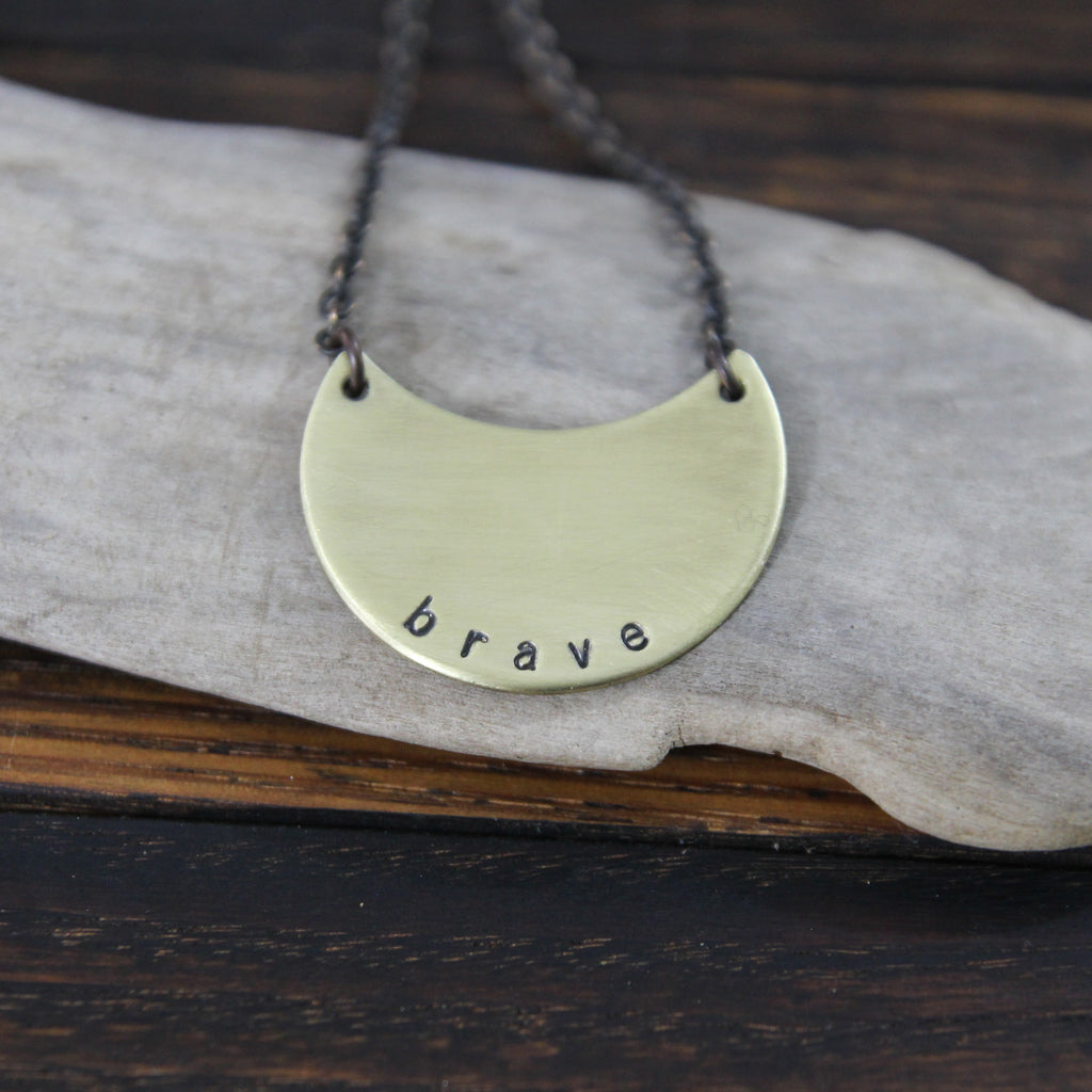 brave :: my soul mantra necklace