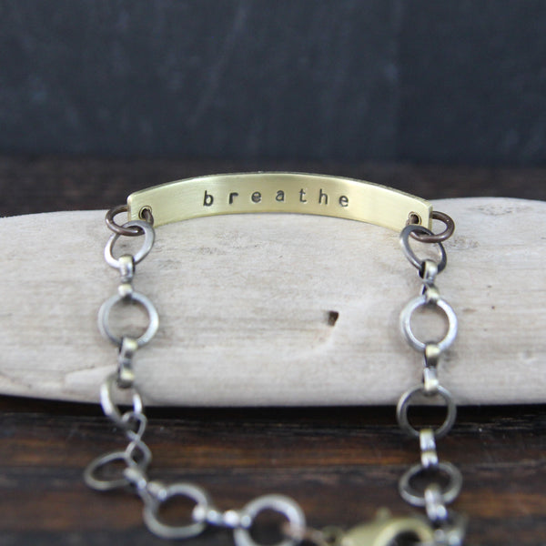 breathe :: secret message bracelet