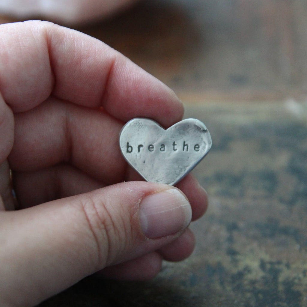breathe :: heart pocket talisman