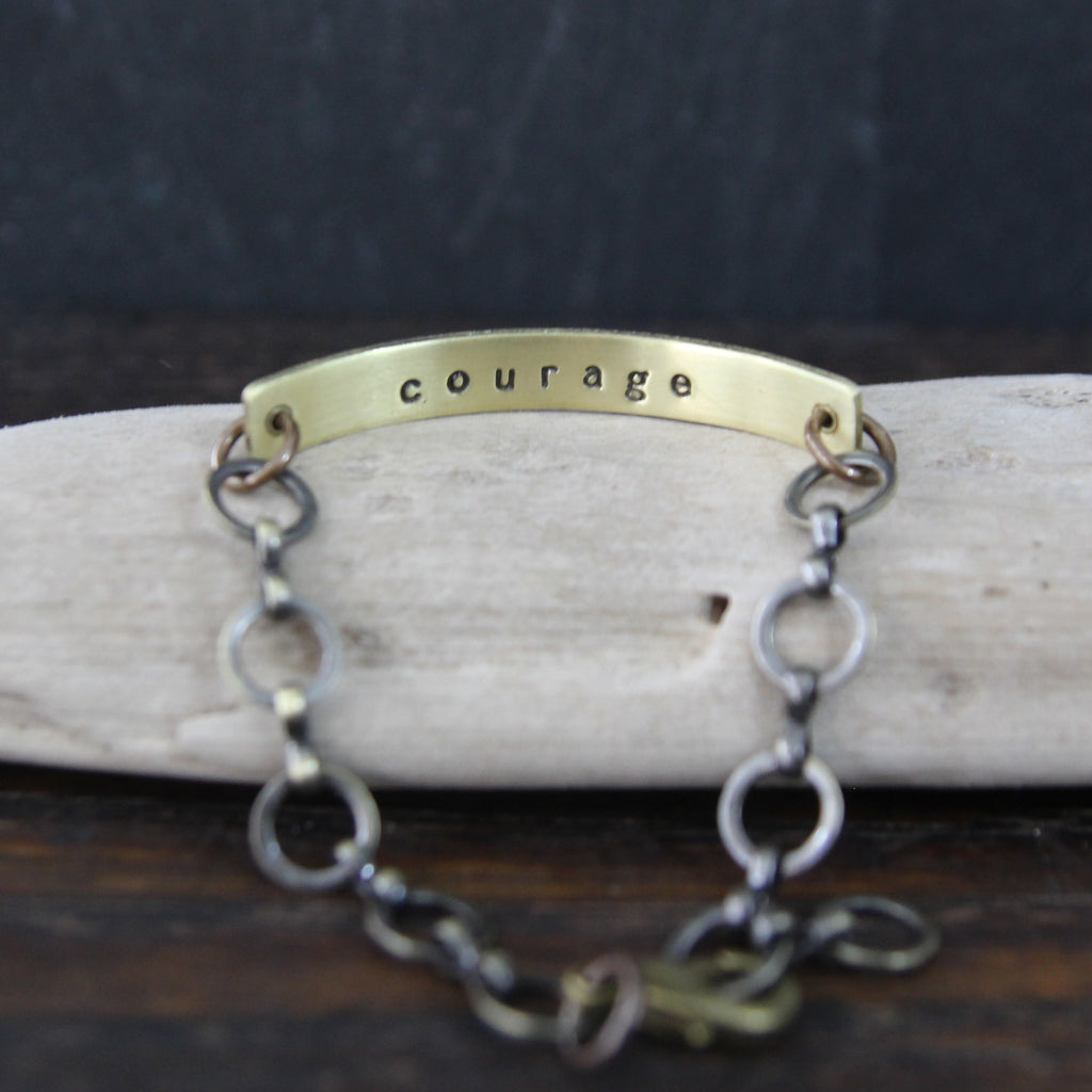 courage :: secret message bracelet