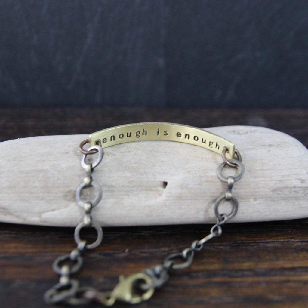 enough is enough :: secret message bracelet