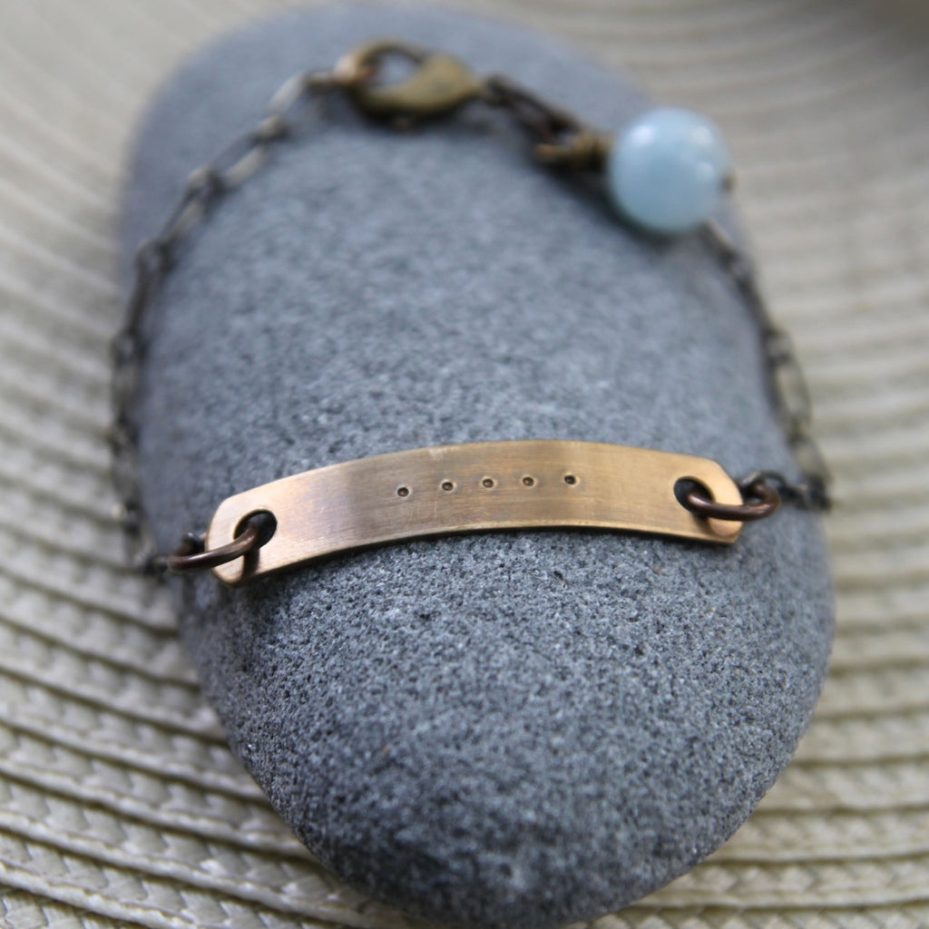 five deep breaths :: reminder bracelet
