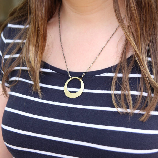 possibility :: brass washer necklace