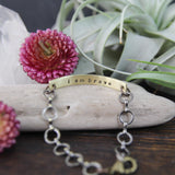 i am brave :: secret message bracelet