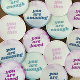 "the ""you are"" stickers"