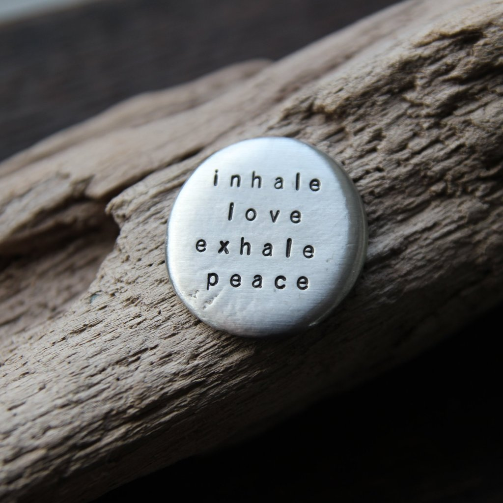 inhale love exhale peace :: pocket talisman