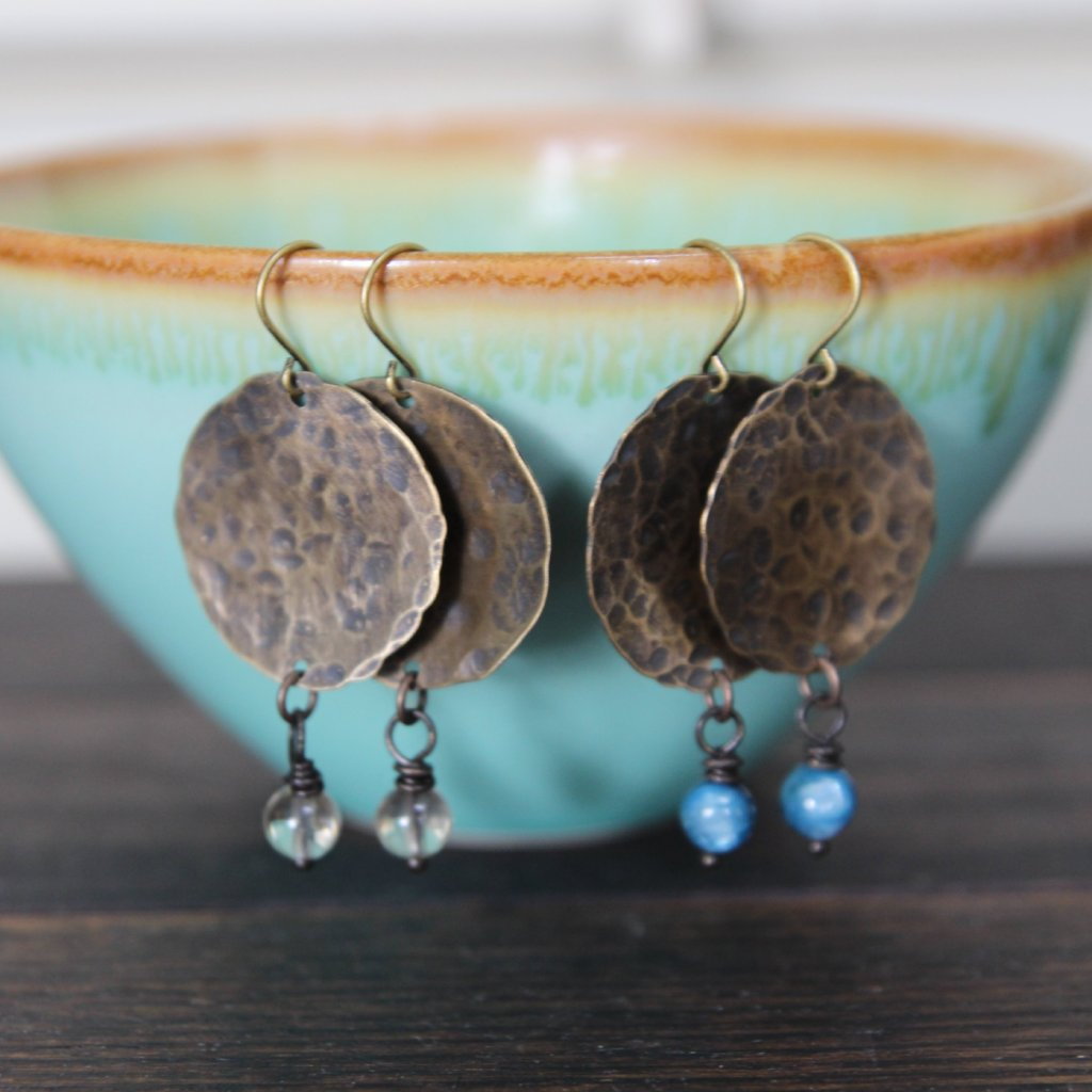 intention hammered earrings