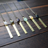 intention long bar necklace