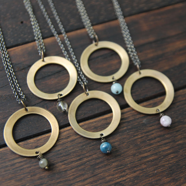 my soul mantra :: intention circle necklace