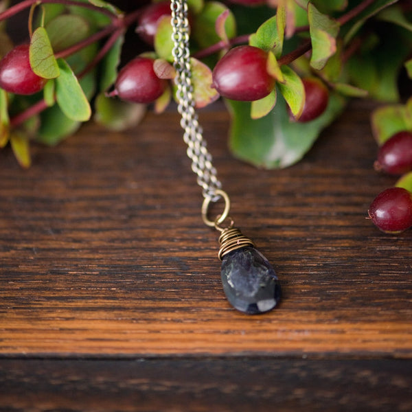 listening :: iolite intention necklace