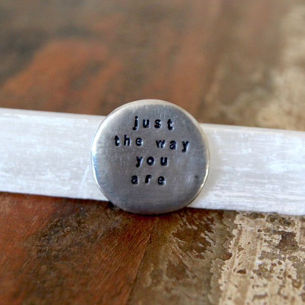 just the way you are :: pocket talisman