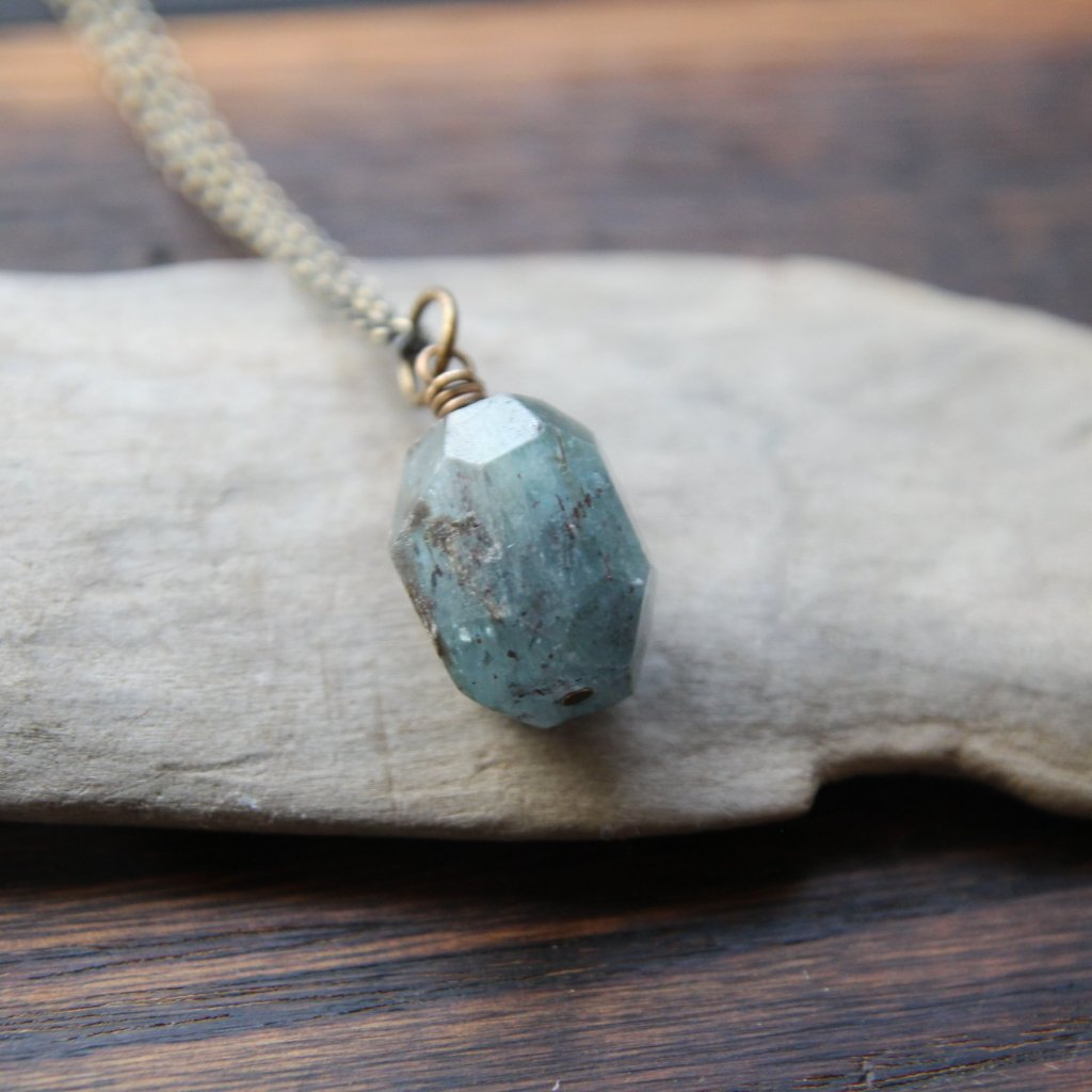 courage + wisdom :: kyanite necklace