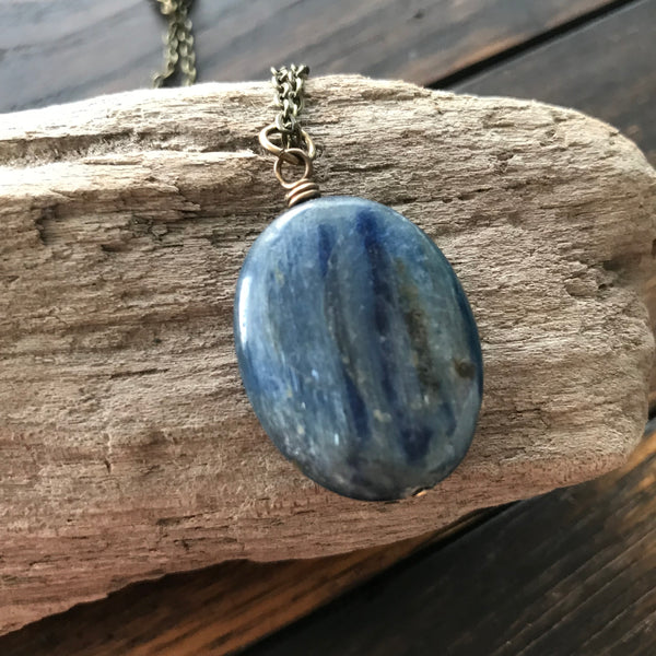 stand tall :: kyanite necklace