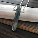 wisdom + courage :: kyanite necklace {1}