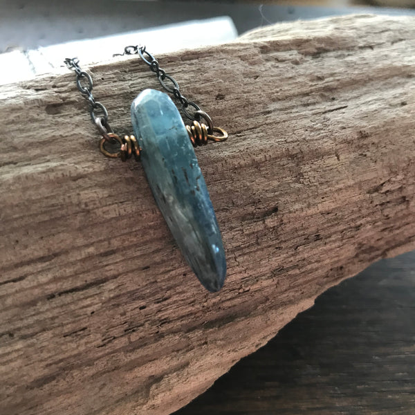 wisdom + courage :: kyanite necklace {3}