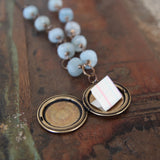 wisdom and courage :: locket with kyanite