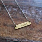 tiny bar :: one word necklace
