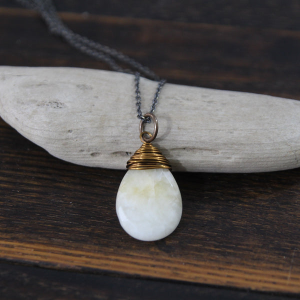 the light within :: moonstone necklace
