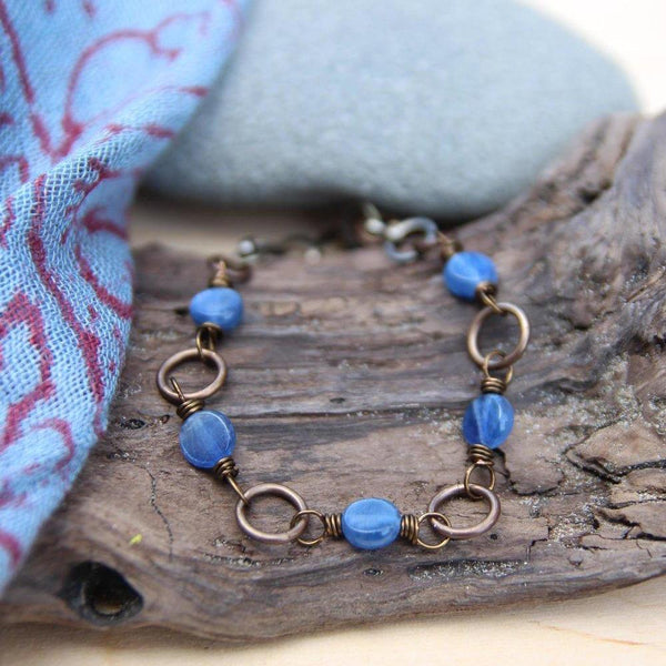 five deep breaths :: be true kyanite bracelet